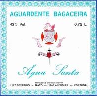 Brandy Label, Portugal - Aguardente Bagaceira ÁGUA SANTA / Mato, Alenquer - Labels