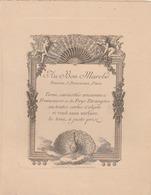 """PARIS - """"AU BON MARCHE"""" Carte """"Au Paon"""" Annonçant La Vente De Curiosités Anciennes Françaises Et De Pays étrangers ... - Advertising"""