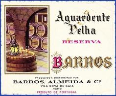 Brandy Label, Portugal - Aguardente Velha BARROS / Vila Nova De Gaia - Labels