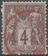 Oblitération Rouge Imprimes PARIS PP38 - 1876-1898 Sage (Type II)