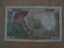 Billet 50 Francs Type Jacques Coeur 1941 - 1871-1952 Antichi Franchi Circolanti Nel XX Secolo