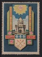 Vignette - Lisieux - Congres Eucharistique - 1937 - Commemorative Labels