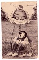 "5427 - Cp Humoristique - Scatologique - "" Qui Dort Dine "" - Cp Signée Xavier Sager ( 1907 ) - - Humour"