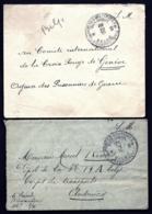 LOT 2 LETTRES BELGIQUE- POSTES MILITAIRES BILINGUE- 8 BIS (EN FRANCHISE)- 3 SCANS - Marcophilie