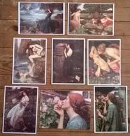 Lot De 8 Cartes Postales / Tableaux De WATERHOUSE - Peintures & Tableaux