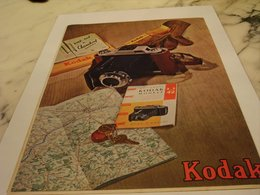 ANCIENNE PUBLICITE WEEK END A CHAMBORD  KODAK  1954 - Photographie
