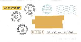 3 Cachets Manuels + Neopost St Quentin Aisne Sur Enveloppe Service La Poste Tour De France Cycliste 2006 - Postmark Collection (Covers)