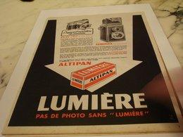 ANCIENNE PUBLICITE PAS DE PHOTO SANS LUMIERE   1954 - Photographie