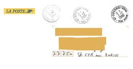 3 Cachets Manuels Obernai Bas Rhin Sur Enveloppe Service La Poste Tour De France Cycliste 2006 - Postmark Collection (Covers)