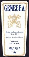 Old Brandy Label, Portugal - GENEBRA / Funchal, Madeira - Labels
