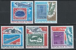 Mali YT PA 341-345 XX / MNH Timbre Sur Timbre Aviation - Mali (1959-...)