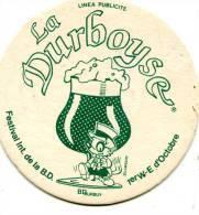 MACHEROT. SOUS-BOCK PUBLICITAIRE POUR LE FESTIVAL BD DE DURBUY. Editions Du LOMBARD. Sd. Années 80. - Objets Publicitaires