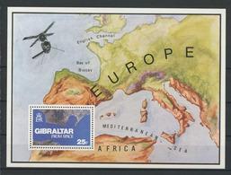 GIBRALTAR 1978 Bloc N° 5 ** Neuf MNH Superbe Vue Du Ciel Photo Prise Par Skylab 3 Espace Space Satellite - Gibraltar