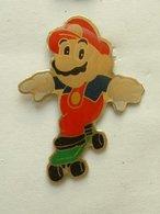 Pin's MARIO BROSS EN SKATE BOARD - Jeux