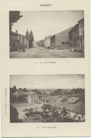 Aumetz  Grande Rue  Et Vue Générale - Francia