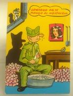 Humor Militari - Lontano Da Te Piango Di Nostalgia   CARTOLINA  Viaggiata 1981 - Umoristiche