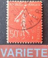R1615/910 - 1927 - TYPE SEMEUSE - N°199 ☉ - VARIETE ➤➤➤ Impression Empatée - Variedades Y Curiosidades
