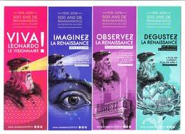 Lot 4 Marque-pages, Léonard De Vinci, - Marque-Pages