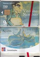 AZORES ISL.(PORTUGAL) - Vitorino Nemesio, Tirage 36000, 01/02, Mint - Telefoonkaarten