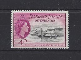 "FALKLAND Is.."" DEPS ""..QUEEN ELIZABETH II.(1952-NOW)...."" 1954.""...4d.....SGG32...MNH.. - Falklandinseln"