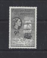 "FALKLAND Is.."" DEPS ""..QUEEN ELIZABETH II.(1952-NOW)...."" 1954.""...9d.....SGG34...MNH.. - Falklandinseln"