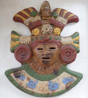 PRÊTRE INCA Terre Cuite Céramique PEROU SERPENT - Sculpturen