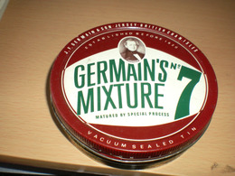 Germain S Mixture No 7 J F Germains Son Jersey British Chanisles Old Tin Box - Contenitori Di Tabacco (vuoti)