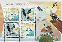 "HUNGRIA / HUNGARY /UNGARN  -EUROPA 2019-NATIONAL BIRDS.-""AVES-BIRDS -VÖGEL-OISEAUX""-  HOJITA BLOQUE - 2019"