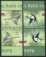 "LETONIA /LATVIA /LETTLAND /LETTONIE - EUROPA 2019 -NATIONAL BIRDS.-""AVES - BIRDS - VÖGEL -OISEAUX""- PAR INVERTIDO N - 2019"