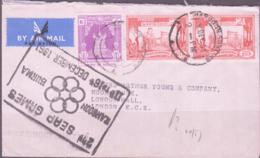 BURMA - 1961 - AIRMAIL COVER TO LONDON WITH SEAP GAMES, SPECIAL POSMARK - Myanmar (Burma 1948-...)