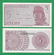 INDONEZIA - 5 SEN - 1964 - UNC - Indonesien