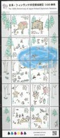 JAPAN, 2019, MNH, RELATIONS WIH FINLAND, FISHING, BOATS, CANOEUING, REINDEER, BICYCLES, CABINS, SHEETLET - Canoe