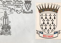 Calendriers > Petit Format : 1961-70 Sur Enveloppe Breiz BRETAGNE Année 1968 6 Premiers Mois - Calendriers