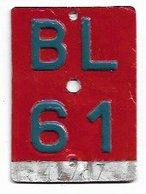 Velonummer Basel-Land BL 61 (5 X 7 Cm) ! - Number Plates