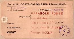 Documents Commerciaux > France > Non Classés Lacanche Coste Caumartin Bon De Commande - Frankreich