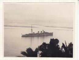 SANTANDER ESPAGNE  Bateau De Guerre  L'Espagne En 1929 Photo Amateur Format Environ 7,5 Cm X 5,5 Cm - Barcos