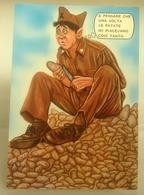 Humor Militari  Pelare Patate  CARTOLINA Non Viaggiata - Umoristiche