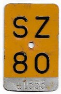 Velonummer Mofanummer Schwyz SZ 80 - Number Plates