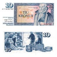 ISLANDA – 10 KRONUR - 1961  - UNC - Iceland