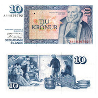 ISLANDA – 10 KRONUR - 1961  - UNC - IJsland