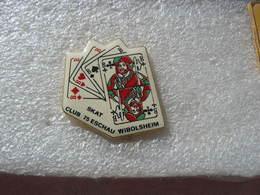Pin's Jeu De Cartes: SKAT Club 75 De La Commune De ESCHAU - WIBOLSHEIM - Jeux
