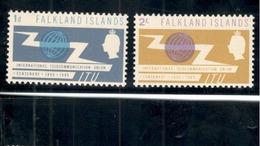 FALKLAND1965:  ITU  Michel149-50mnh** Cat.Value $16.75 - Falkland Islands