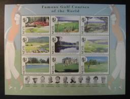 NEVIS 1997 - FAMOUS GOLF COURSES OF THE WORLD - YVERT 1029-1037 SCOTT 1021 - Golf