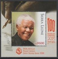 Sierra Leone 2018 Mi. ? S/S Joint Issue PAN African Postal Union Nelson Mandela Madiba 100 Years - Emissioni Congiunte