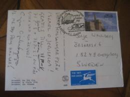 JERUSALEM 2006 To Sweden Vikingar Viking Vikings History Cancel Old City Post Card ISRAEL - Altri