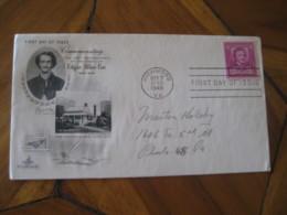 RICHMOND 1949 Edgar Allan Poe Poe Cottage Writer FDC Cancel Cover USA - Ecrivains
