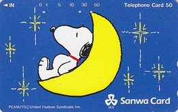 TC Japon / 110-168320 - BD Comics - CHIEN SNOOPY ** BANQUE SANWA BANK ** - PEANUTS DOG Japan Phonecard - 1347 - BD