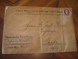 MUNCHEN 1914 To Landau BAYERN Bavaria Baviere Notary Notarial Cover Germany German State - Bavaria