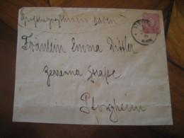 1876 STETTIN To Pforzheim Deutsche Reichs Post 10 Pfennig Postal Stationery Cover GERMANY Empire - Alemania