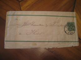 1889 CREFELD Deutsche Reichs Post 3 Pfennig Wrapper Postal Stationery Cover GERMANY Empire - Alemania